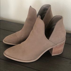 Steve Madden taupe suede Petra booties